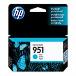 CARTUCHO HP 951 AZUL CN050AL 8,5ML*